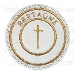 Badge / Macaron GLNF – Grande tenue provinciale – Passé Grand Tuileur – Bretagne – Brodé machine